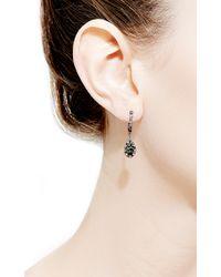Daniela Villegas - Multicolor Traveler 18k Gold Sapphire Tsavorite and Black Diamond Earrings - Lyst