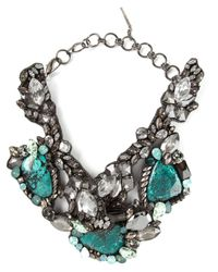 Beavaldes | Metallic Crystal Embellished Collar Necklace | Lyst