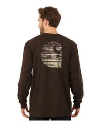 Carhartt - Brown Workwear Graphic Branded C Long Sleeve Tee for Men - Lyst
