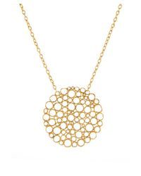 Gurhan - Metallic Women's 24k Yellow Gold Necklace Lace Circle Pendant - Lyst