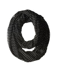 Steve Madden | Black Hole Punched Infinity Scarf | Lyst