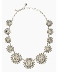 kate spade new york - Metallic Estate Garden Necklace - Lyst