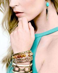 Ashley Pittman | Blue Ndani Light Horn Spike Earrings | Lyst