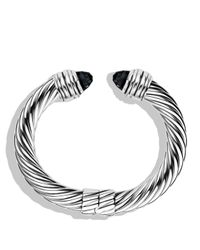 David Yurman | Metallic Cable Classics Bracelet With Black Onyx | Lyst