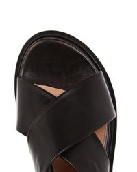 Robert Clergerie - Black Caliente Leather Flat Sandals - Lyst