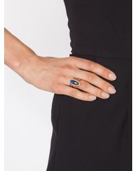 Jacquie Aiche - Metallic Oval Stone Ring - Lyst