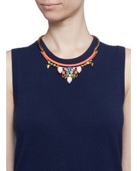 J.Crew | Multicolor Neon Pop Charm Collar Necklace | Lyst