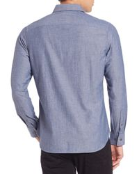 Victorinox - Blue Alba Tailored-fit Cotton Chambray Sportshirt for Men - Lyst