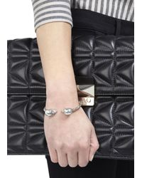 Alexander McQueen | Metallic Silver Tone Skull Bracelet | Lyst