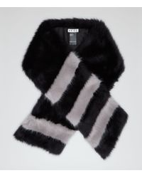 Reiss | Black Filipa Faux Fur Scarf | Lyst
