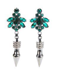 Mawi - Green Spike Earrings - Lyst
