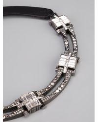 Lanvin - Metallic Cut Glass Necklace - Lyst