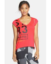Reebok - Red 'one Series' Open Back Top - Lyst