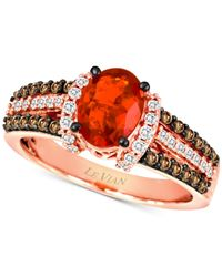 Le Vian | Red Fire Opal (5/8 Ct. T.w.) And Diamond (1/2 Ct. T.w.) Ring In 14k Rose Gold | Lyst
