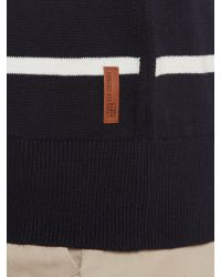 Ben Sherman | Blue Stripe Crew Neck Jumper for Men | Lyst