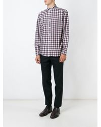 Eleventy - Brown Checked Shirt for Men - Lyst