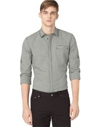 Calvin Klein Jeans | Gray Small Check Woven Sportshirt for Men | Lyst