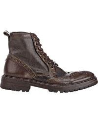 John Varvatos - Brown Stanley Wingtip Ankle Boots for Men - Lyst
