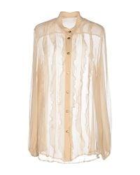 Blumarine | Natural Shirt | Lyst