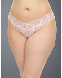 Hanky Panky | Pink Plus Lace Thong | Lyst