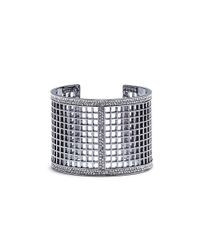Vince Camuto - Metallic Pave Edge Perf Cuff - Lyst