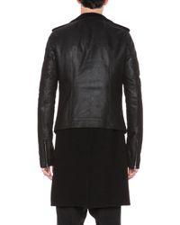 Rick Owens - Black Double Lined Stooges Biker Leather Jacket - Lyst