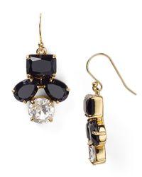 kate spade new york | Black Secret Garden Drop Earrings | Lyst
