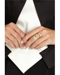 Maria Black - Metallic Cascade 18-Karat Gold Diamond Ring - Lyst