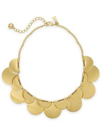 kate spade new york - Metallic Gold-Tone Layered Scalloped Frontal Necklace - Lyst