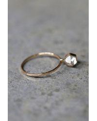 Free People - Metallic Herkimer Diamond Ring - Lyst
