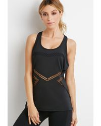 Forever 21 | Black Active Laser-cut Tank You've Been Added To The Waitlist | Lyst