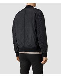 AllSaints - Black Tolbert Bomber Jacket for Men - Lyst