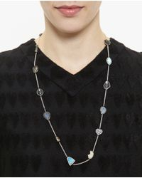 Kimberly Mcdonald - Multicolor Geode And Diamond 18k White Gold Gracie Chain - Lyst