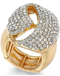 INC International Concepts | Metallic Gold-tone Crystal Dome Stretch Ring | Lyst
