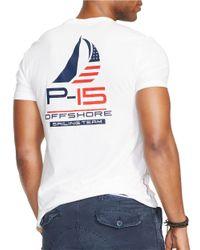 Polo Ralph Lauren   White Racing Graphic T-Shirt for Men   Lyst