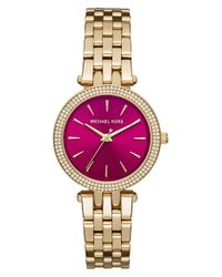 MICHAEL Michael Kors | Metallic 'mini Darci' Bracelet Watch | Lyst