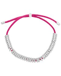 Estella Bartlett | Pink Mini Anna Silver Plated Ring Suede Bracelet | Lyst