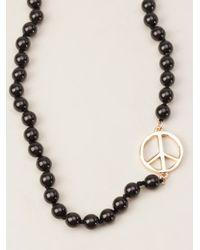 Paul Smith - Black Peace Necklace - Lyst
