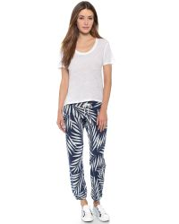 Monrow - White Palm Print Vintage Sweatpants - Bone - Lyst