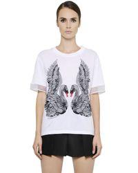 Alexander McQueen | White Embroidered Swan T-shirt | Lyst