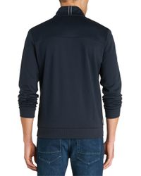 BOSS Green | Blue Cotton-blend Sweatshirt Jacket 'skibo' for Men | Lyst