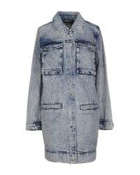 Vero Moda - Blue Denim Outerwear - Lyst