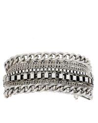Kenneth Cole - Metallic Silvertone Multichain Bracelet - Lyst