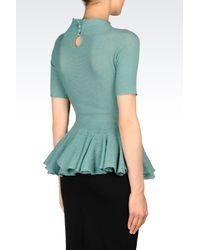 Emporio Armani   Green Seamless Sweater   Lyst