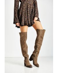 Jeffrey Campbell   Brown Raylan Over The Knee Boot   Lyst