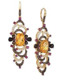 Le Vian | Multicolor ® Crazy Collection® Multi-stone Earrings (12-4/5 Ct. T.w.) In 14k Gold | Lyst