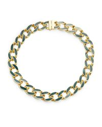 Karen Kane | Metallic Green Secret Garden Collar Necklace | Lyst
