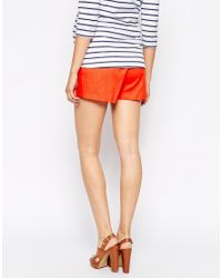 ASOS - Natural Linen Short With Tie - Lyst