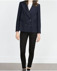 Zara | Black Body Shaping Leggings | Lyst
