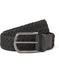 Tod's - Black Woven-Suede Belt for Men - Lyst